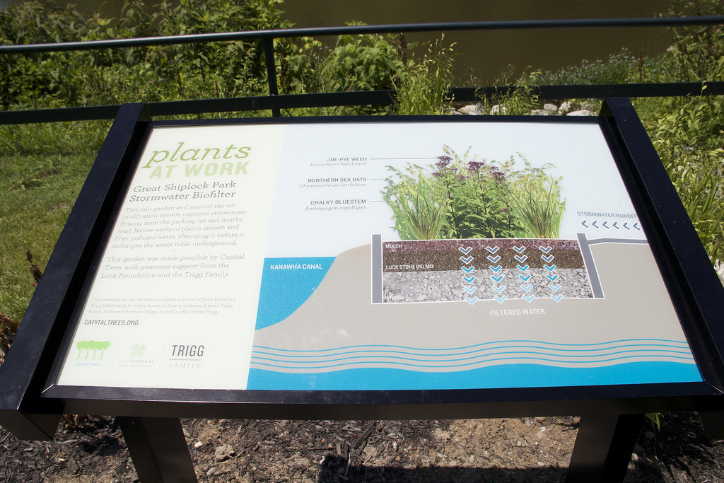 An informational sign within the park.