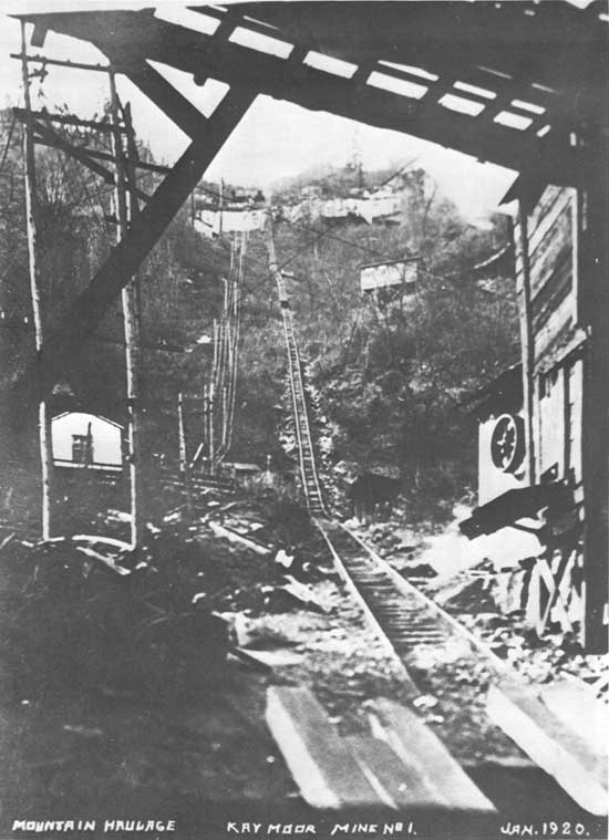 This incline once transported people and materials from the top of the mountain to the bottom and vice versa.