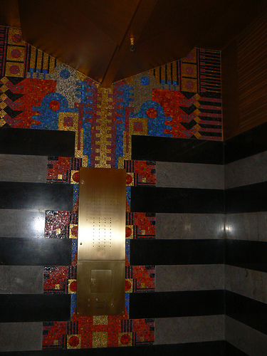 Detail of the building lobby