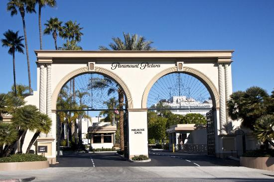 These famous gates mark the entrance to the studio grounds.