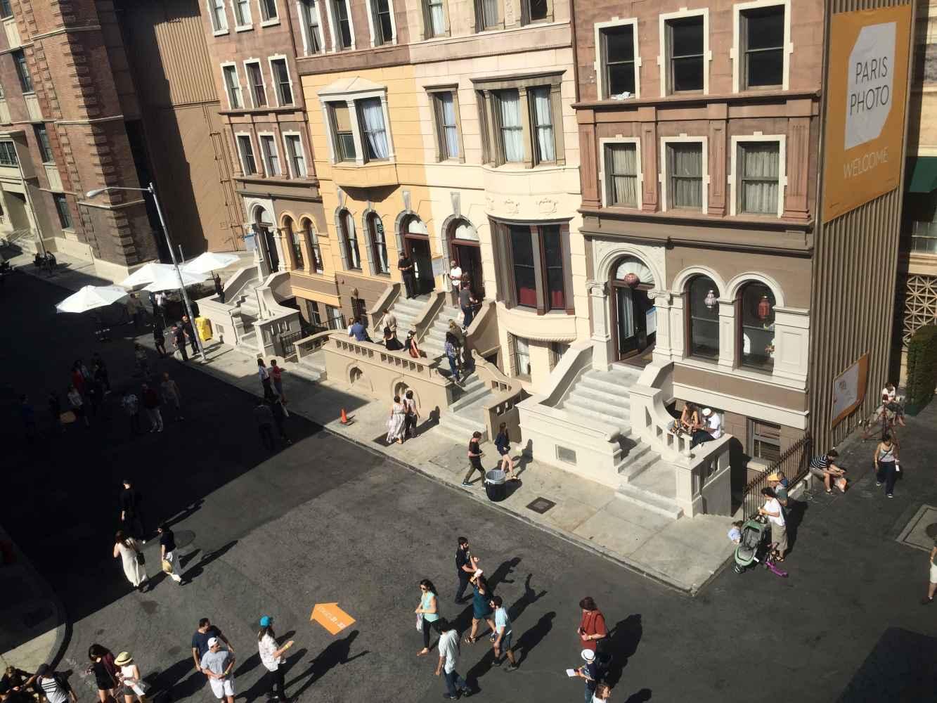 One of the ten recreated New York City neighborhoods on the studio grounds.