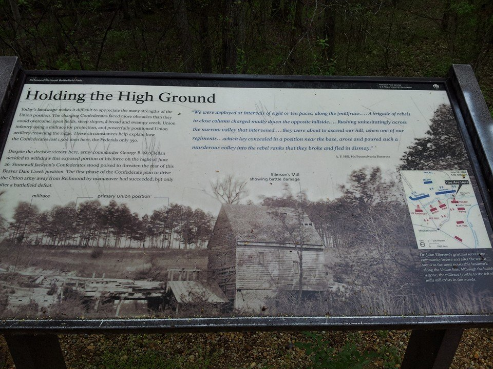A close-up of one of the park's informational signs.