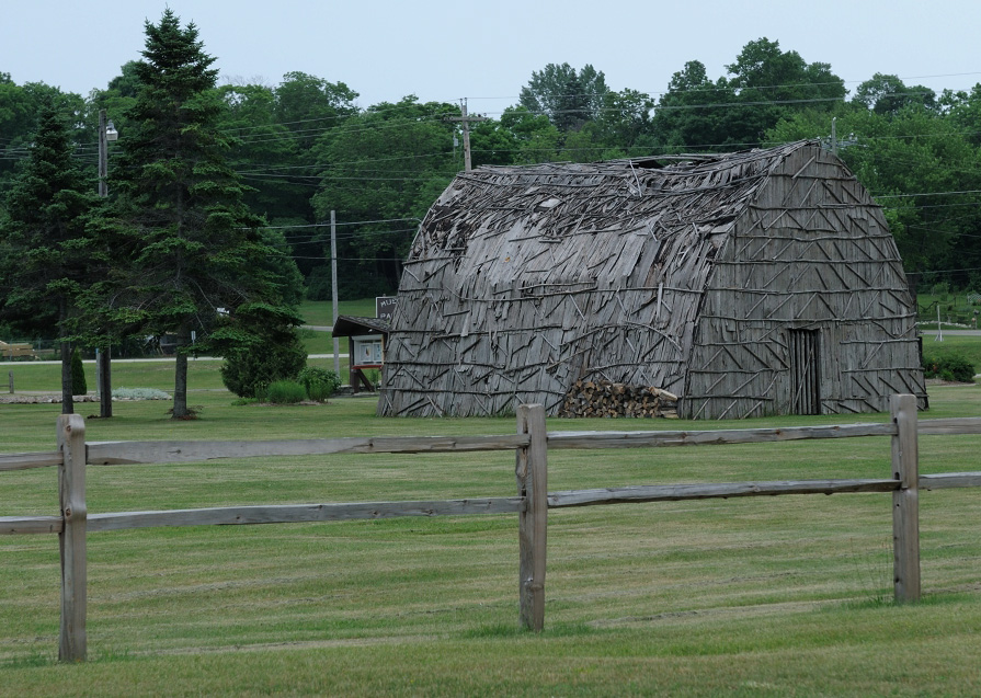 The Huron longhouse