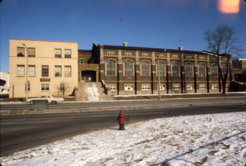 The Old Gym seen from 16th and Clybourn