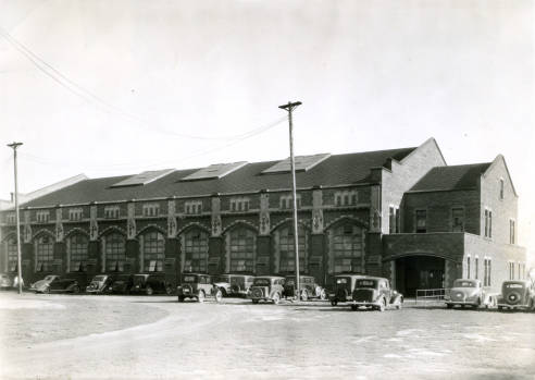 North side view of Old Gym circa 1936