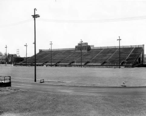 West bleachers of Marquette University Stadium circa 1925