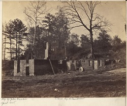 The ruins of Gaines' Mill taken in 1865. The mill was destroyed during the fighting in 1862