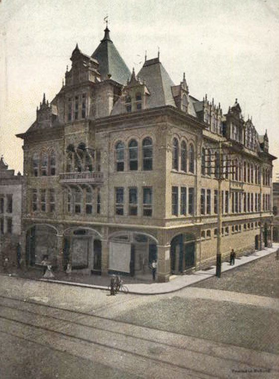 In 1901, a three-story edifice considered very handsome in its day, replaced the fifty-year old structure, and a resolution was passed that no liquor-selling concern should be allowed to rent any of the business space.