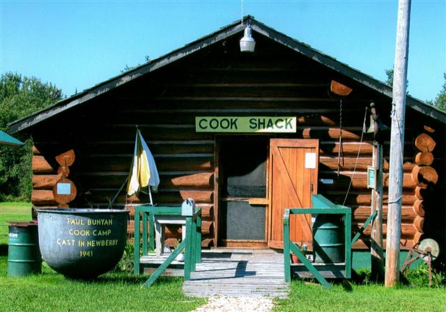 The cook shack and the 1941 cooking pot