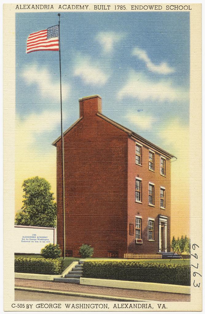Alexandria Academy postcard ca 1940.