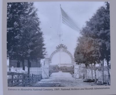 Entrance to Alexandria National Cemetery, 1869. National Archives and Records Administration.