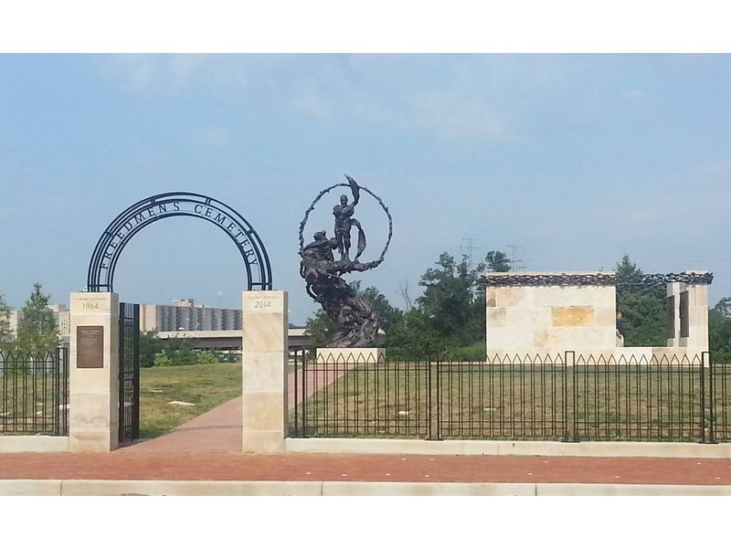 Contrabands and Freedmen Cemetery Memorial by City of Alexandria (reproduced under fair use).