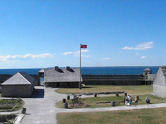 Closer shot inside the fort