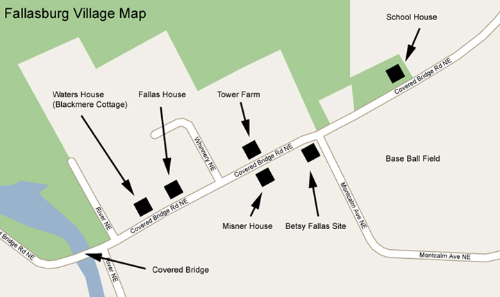 Fallasburg Village Map
