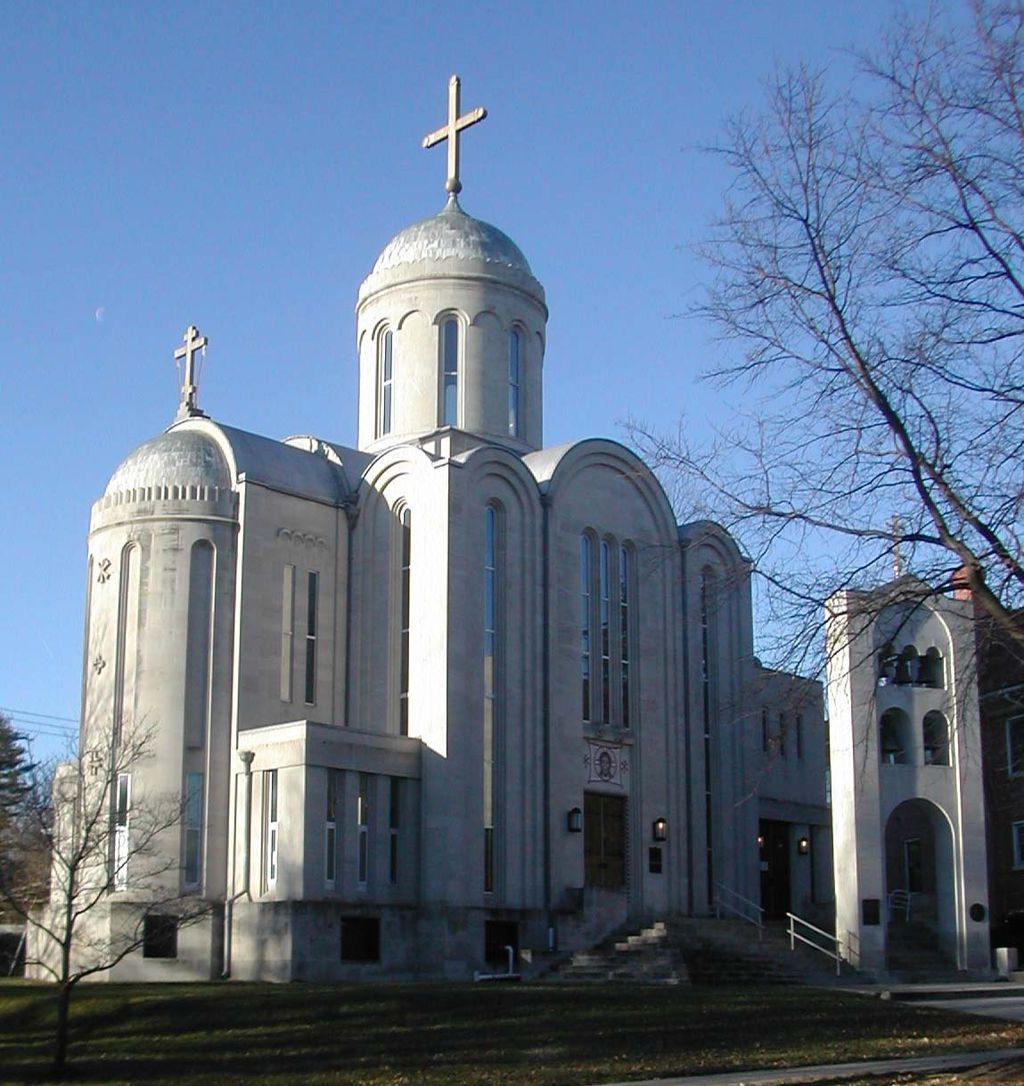 The cathedral was completed in the early 1960s and the bell tower was added in 1988