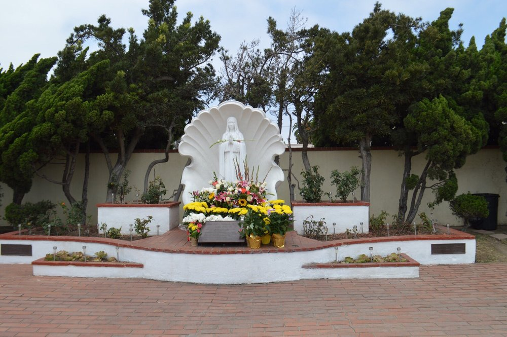 Mother Maria Statue outside the Monastery