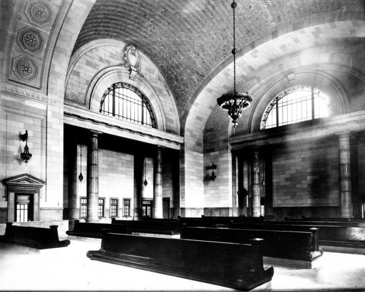 Interior when station was new