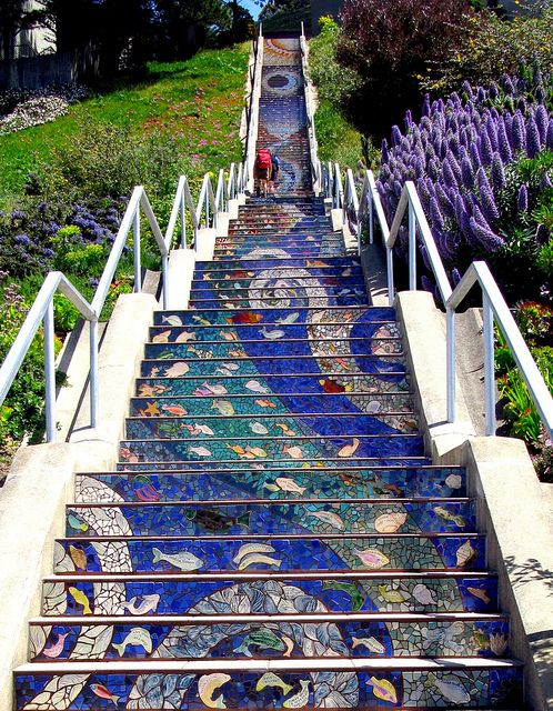 View of the beautiful steps!