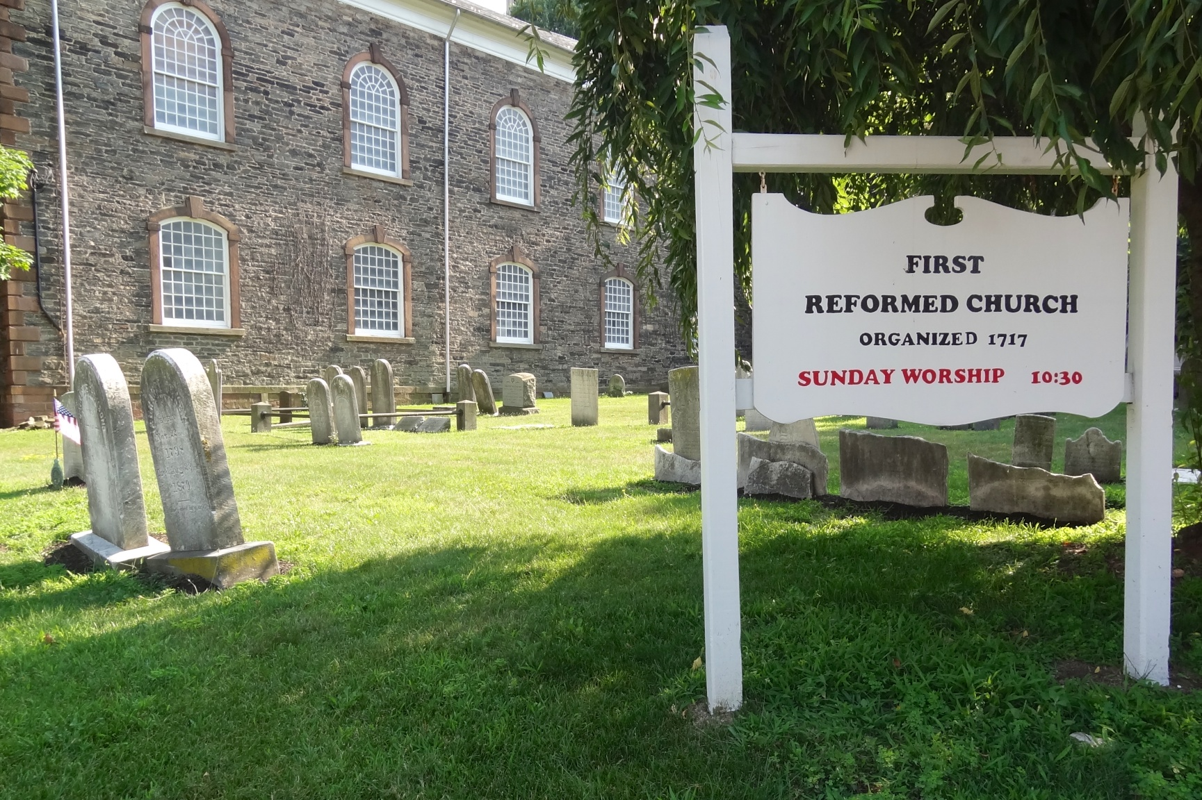 First Reformed Church and its adjacent graveyard
