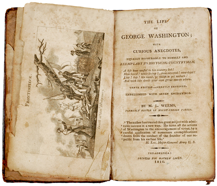 "1810 edition of ""The Life of Washington"" by Mason Locke Weems"