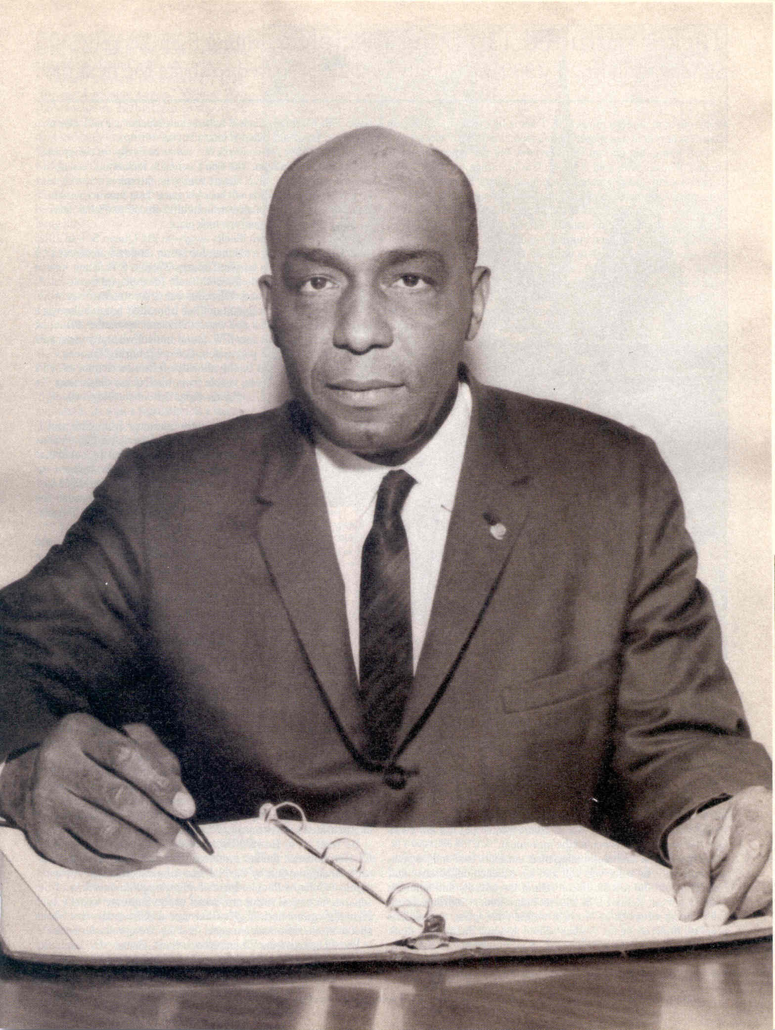 Samuel W. Tucker, an ardent opponent of Jim Crow laws in Virginia. (Courtesy of Alexandria Black History Museum collection)