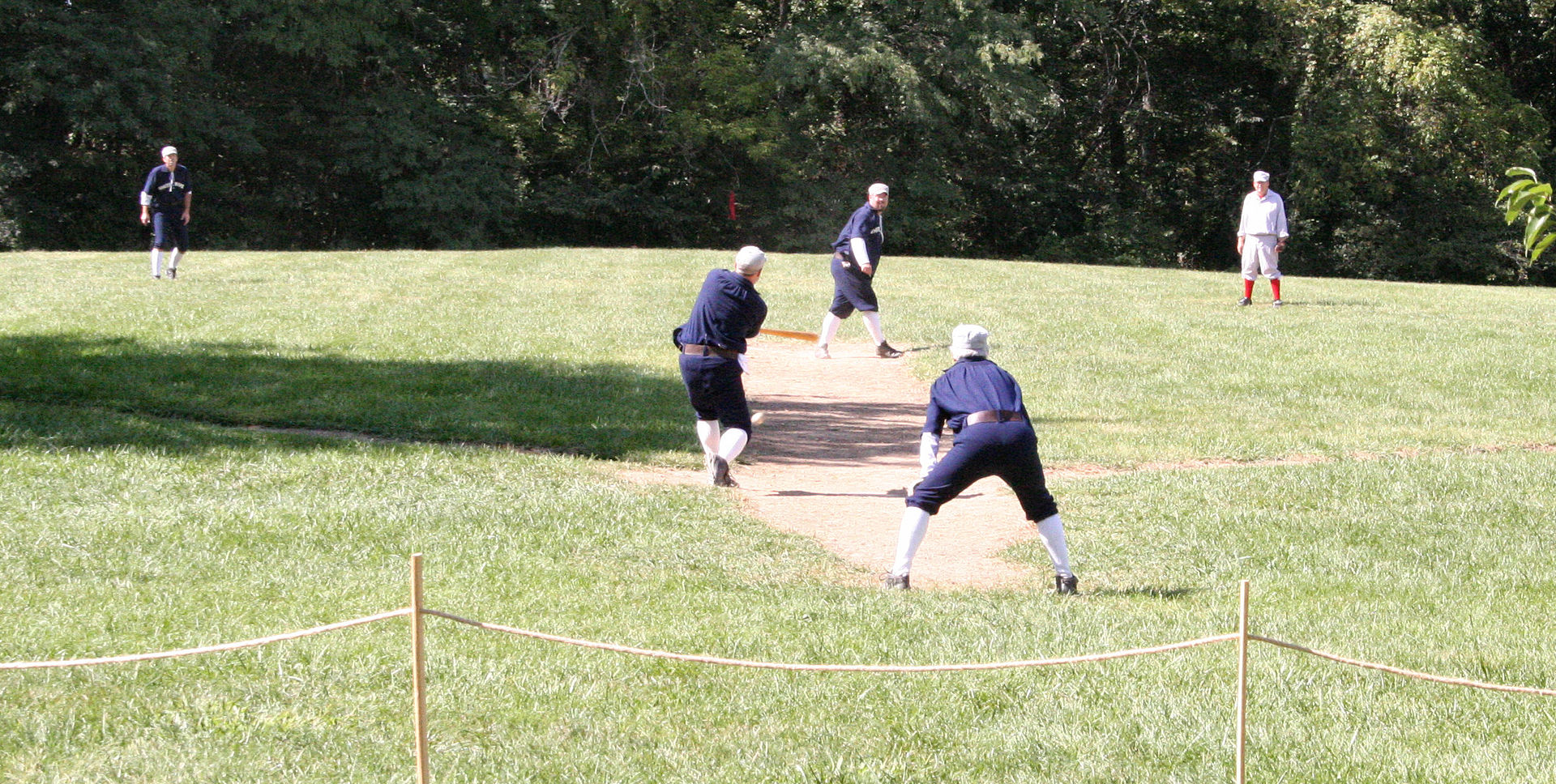 1886 Baseball demonstration at the park