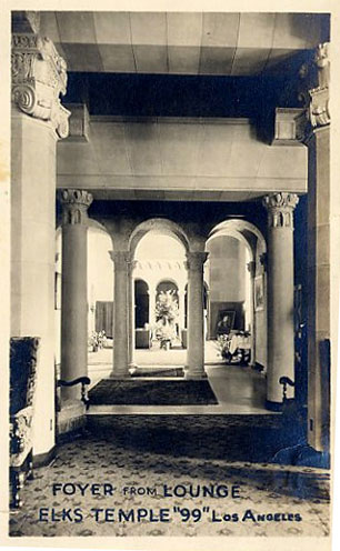 The interior of the lobby circa 1940-the ceiling of the lobby was modeled after Rome's Villa Madama which was built in the 16th century by Raphael and Giulio Romano.