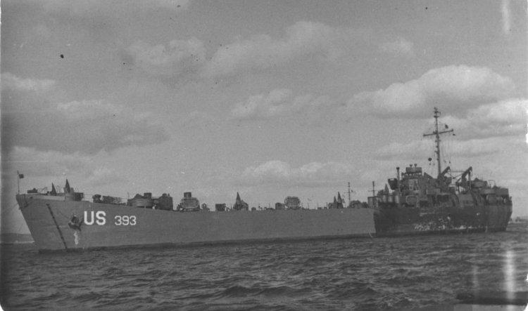 LST 393 around 1945