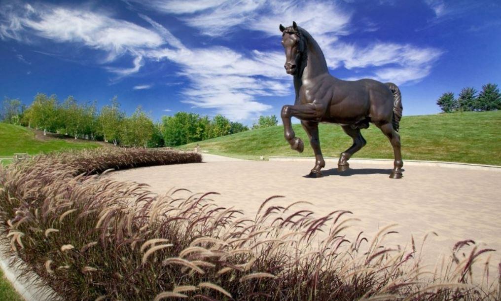 American Horse sculpture