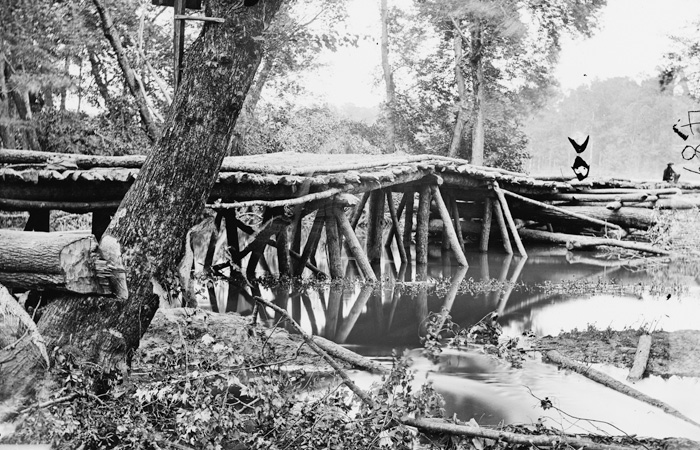 The footbridge across Totopotomoy Creek as it existed shortly after the battle.