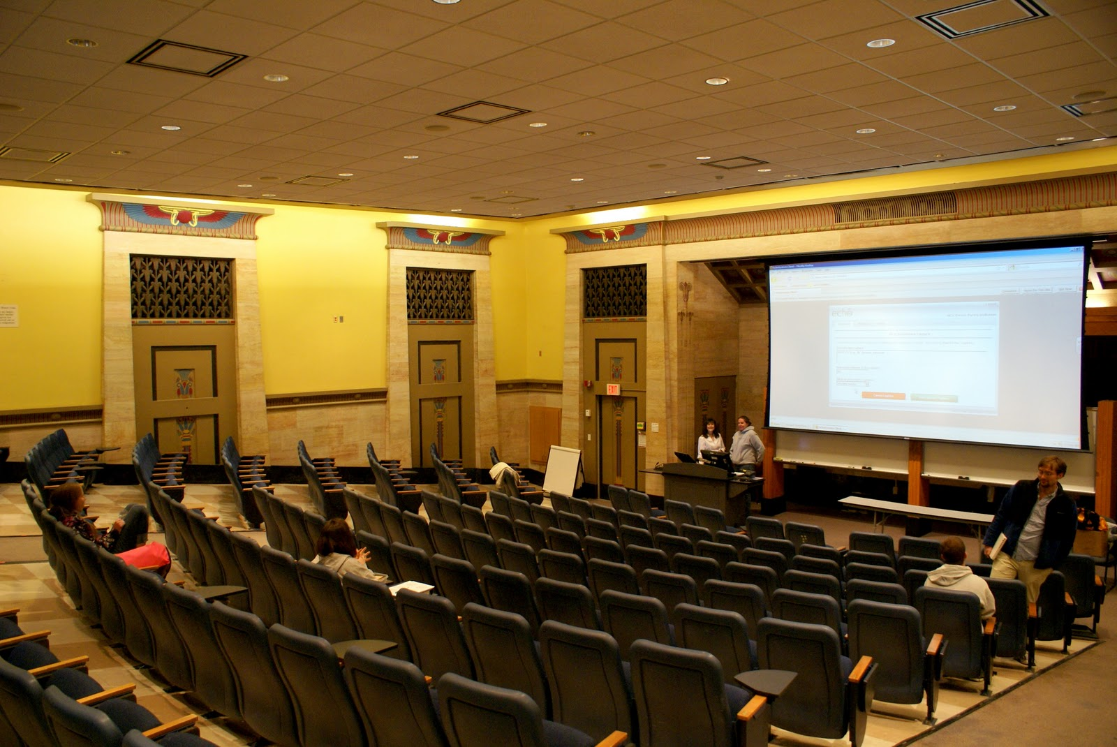 One of the building's classrooms. Courtesy of VCU