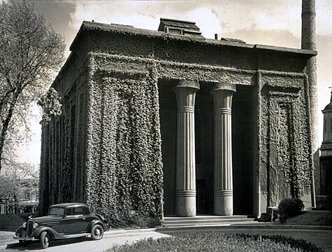 1937 photo of ivy-covered building. It would be renovated 2 years later. VCU Libraries, Tompkins-McCaw Library, Special Collections & Archives