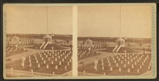Late 1800s-early 1900s image of the cemetery
