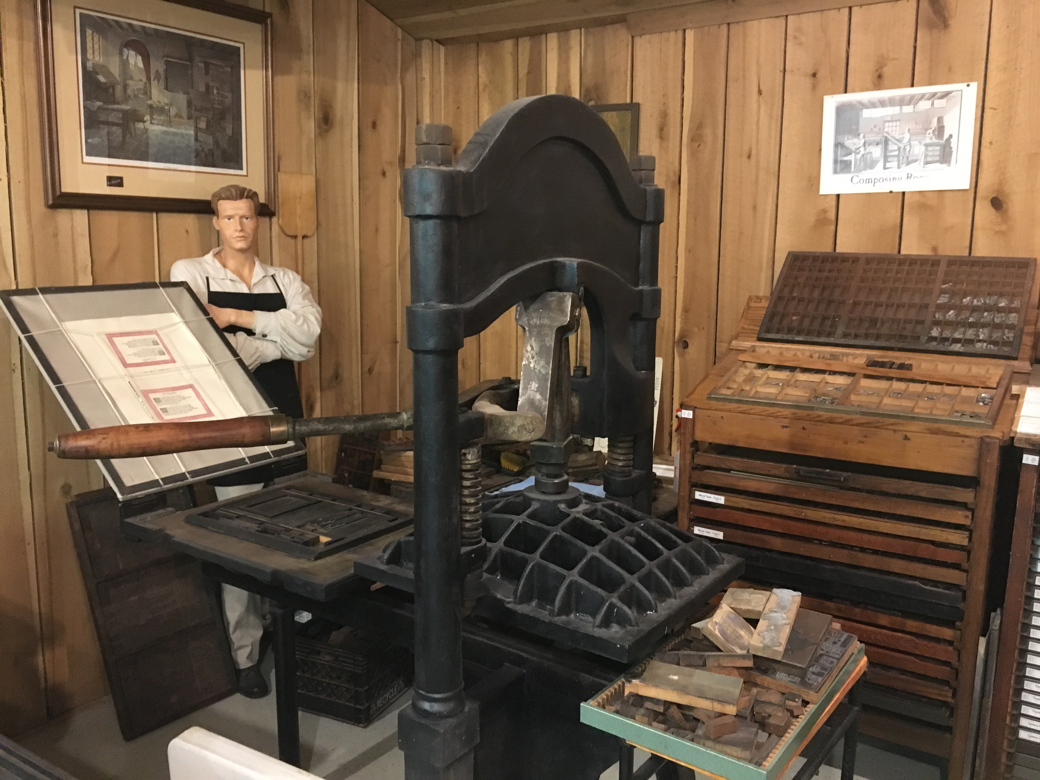 Printing presses have been in use in the Western world since the mid-1400s and continued to be used up until the computer age.