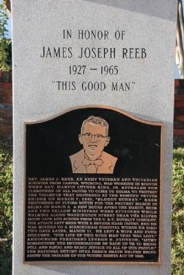 Photo of memorial of James Joseph Reeb, located in Selma, Alabama.
