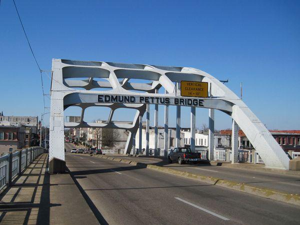 Edmund Pettus Bridge where the protesters marched.