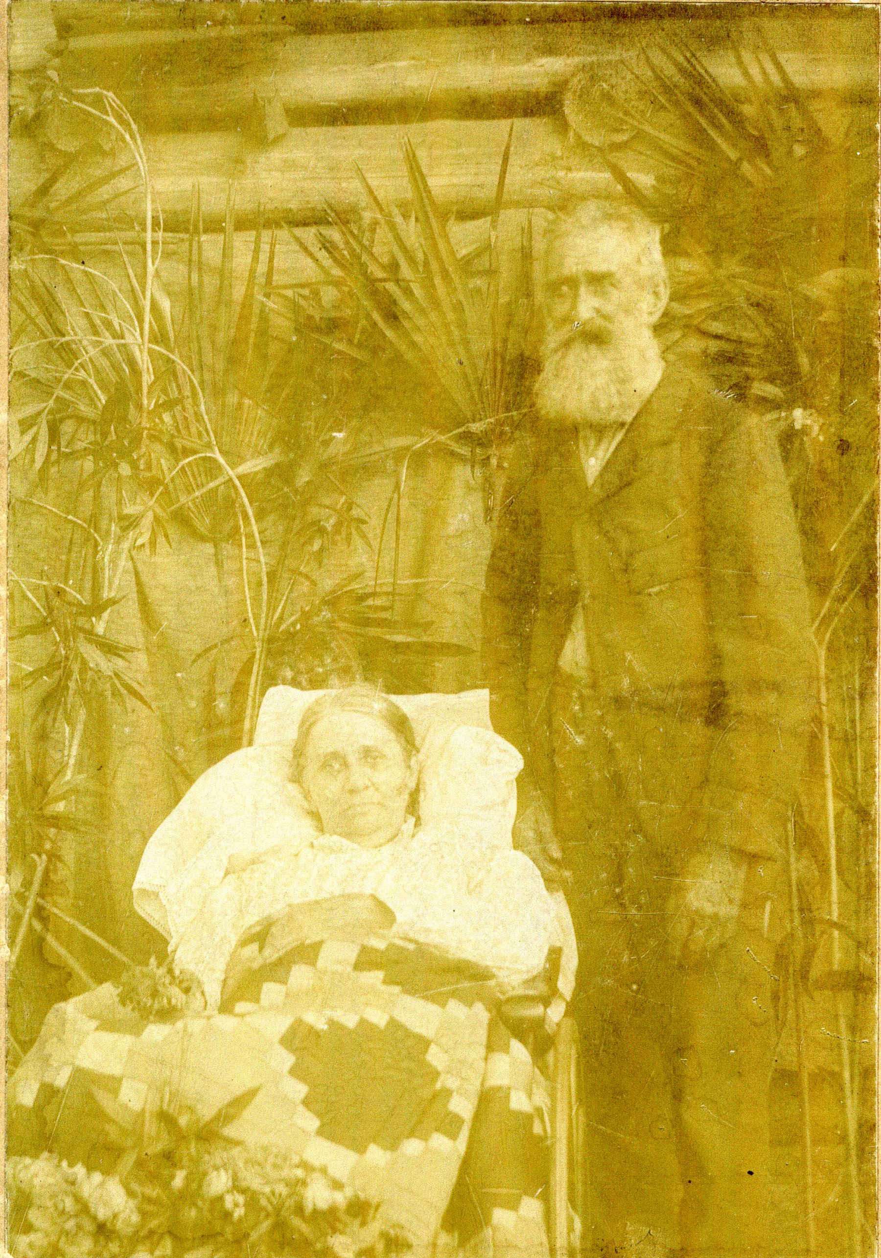 Daniel and Margaret Ann McMullen, circa 1870s.