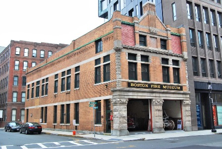 The Boston Fire Museum, at the former station house at 344 Congress Street (image from the Boston Fire Museum)