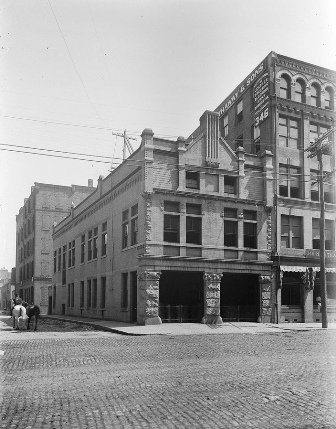 The station house at 344 Congress Street (image from the Boston Fire Museum)