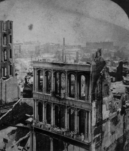Downtown Boston after the Great Fire of 1872 (image from Wikimedia)