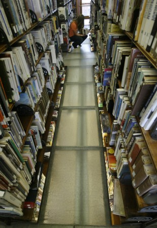 Glass floors in the non-fiction section