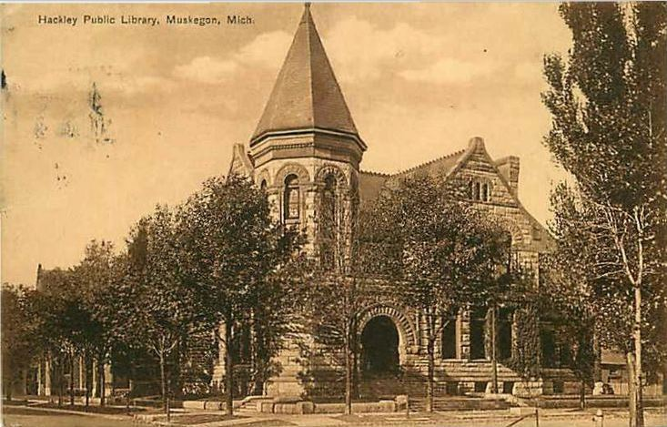 Postcard of the library
