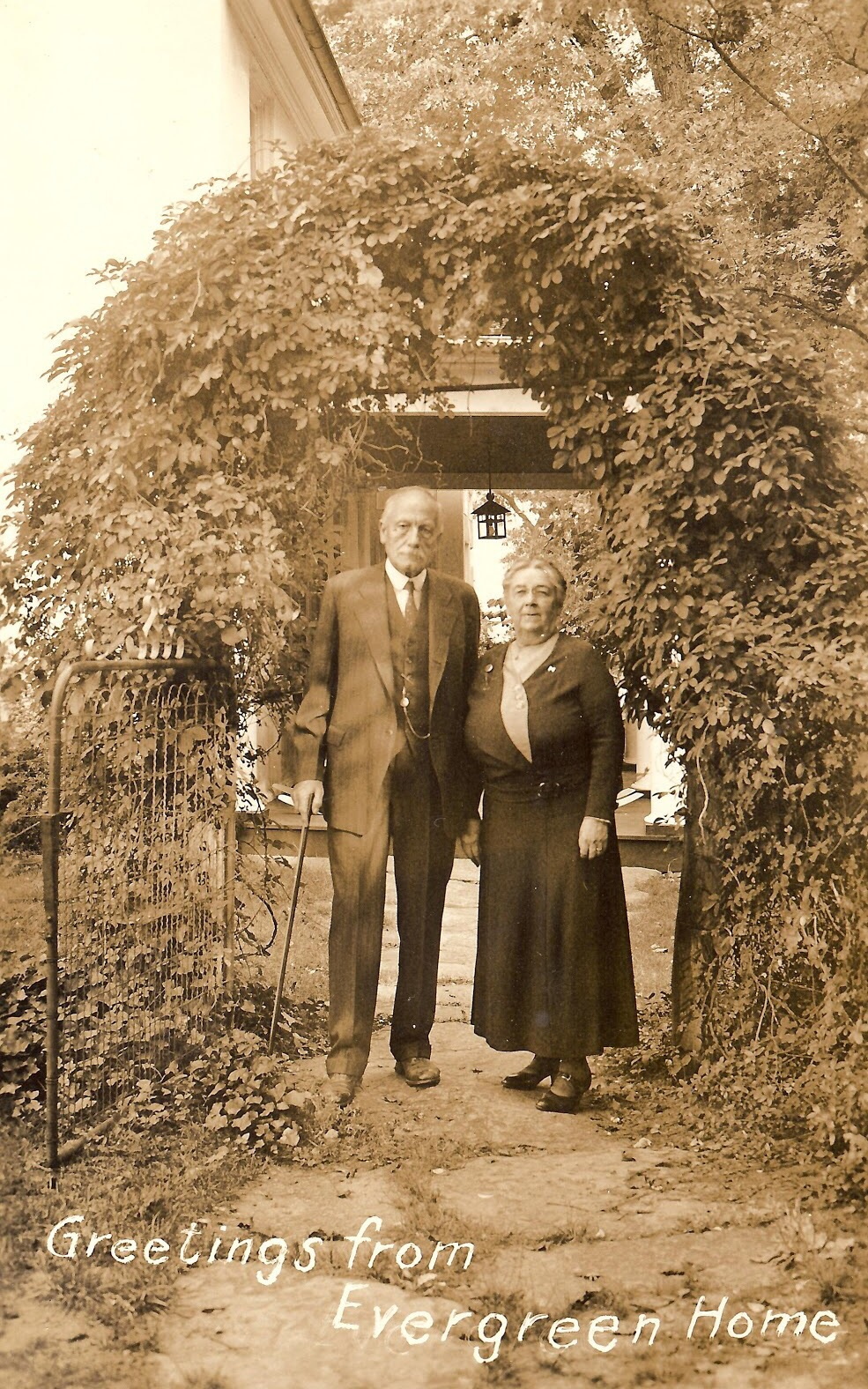 Undated photo of Sarah Hoge and her husband