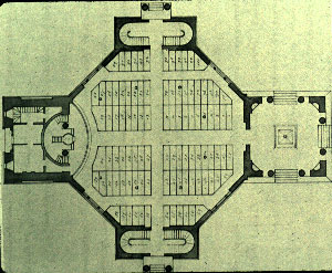 Robert Mills concept for the church's interior (1812). Courtesy of the University of Vermont (UVM)