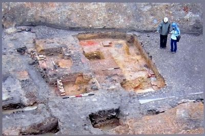 Foundations of the kitchen building.
