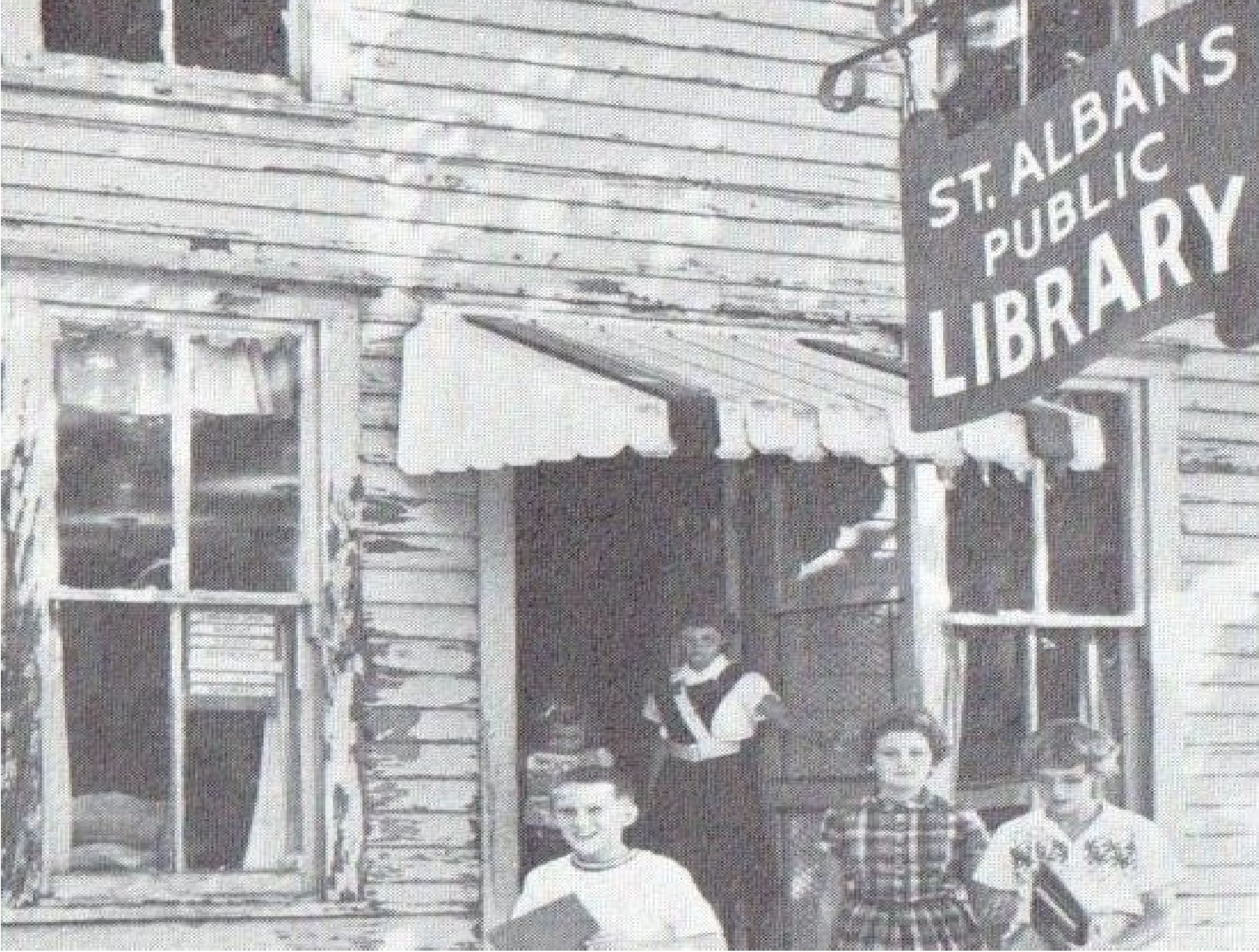 Old library, former candy store, in 1960.