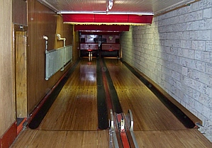 Holler House includes the two oldest officially-sanctioned bowling lanes in the United States.