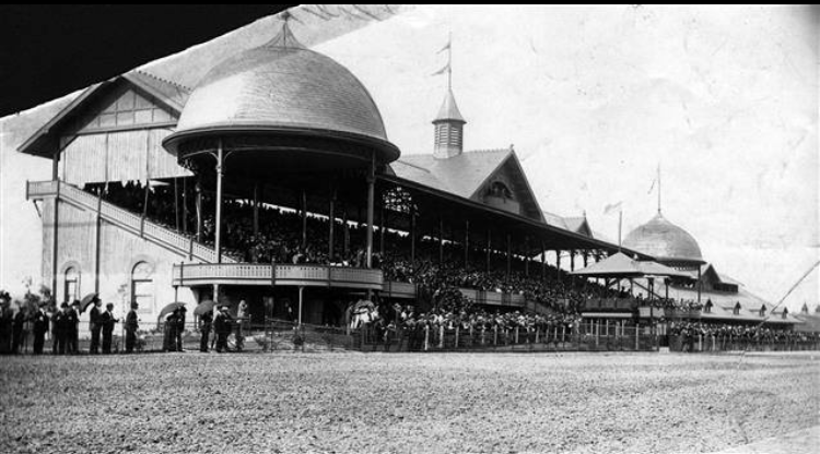 Oakley race track was a popular gathering place at the turn of the century until new laws prohibited gambling.