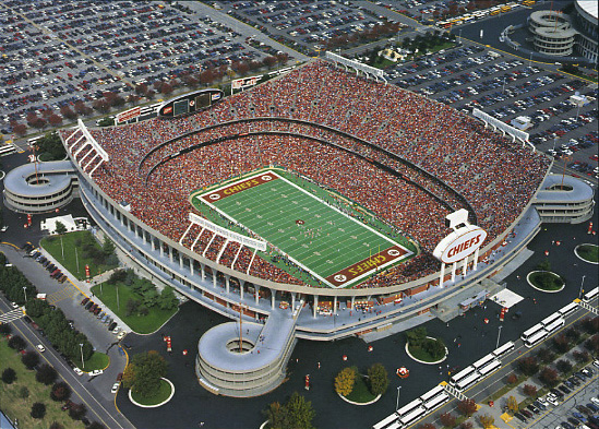 An aerial view of the stadium