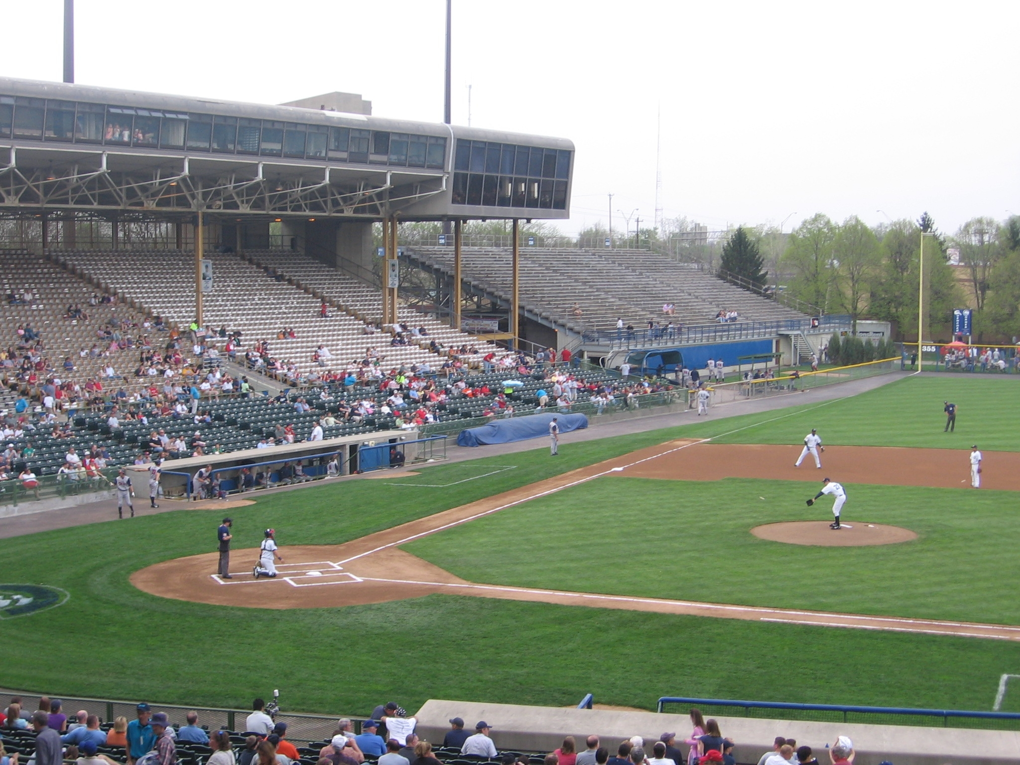 The Columbus Clippers playing at Cooper Stadium before leaving in 2009